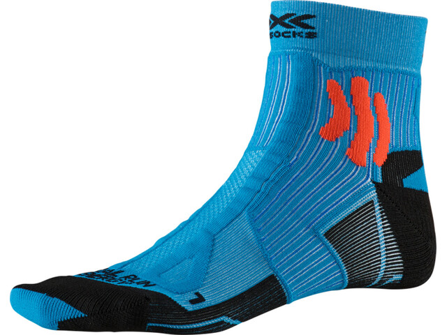 X-Socks Trail Run Energy Chaussettes Homme, teal blue/sunset orange